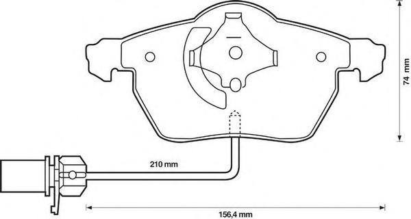 Колодки тормозные передние Jurid 573037J573037J