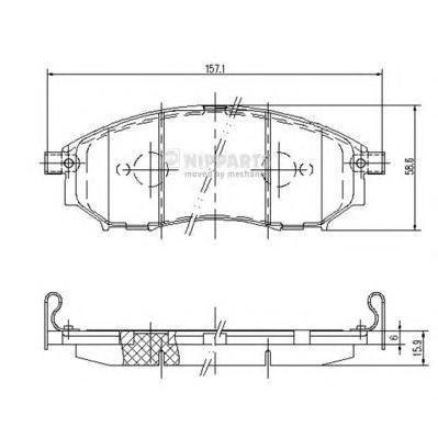 Колодки тормозные передние Nipparts J3601094J3601094