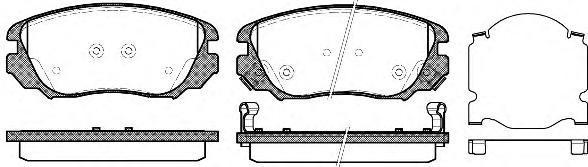 Колодки тормозные дисковые Remsa, комплект. 138502138502
