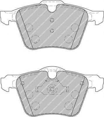 Колодки тормозные дисковые Premier Ferodo FDB1898FDB1898