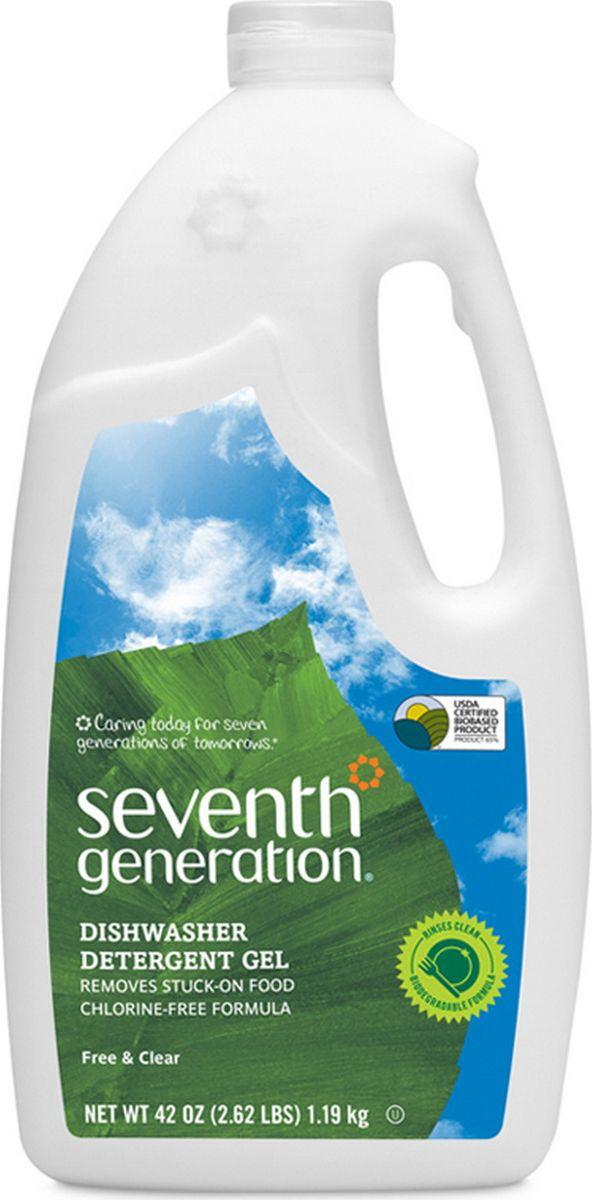 seventh star 100% Гель для посудомоечной машины Seventh Generation, натуральный, без запаха, 1,19 кг