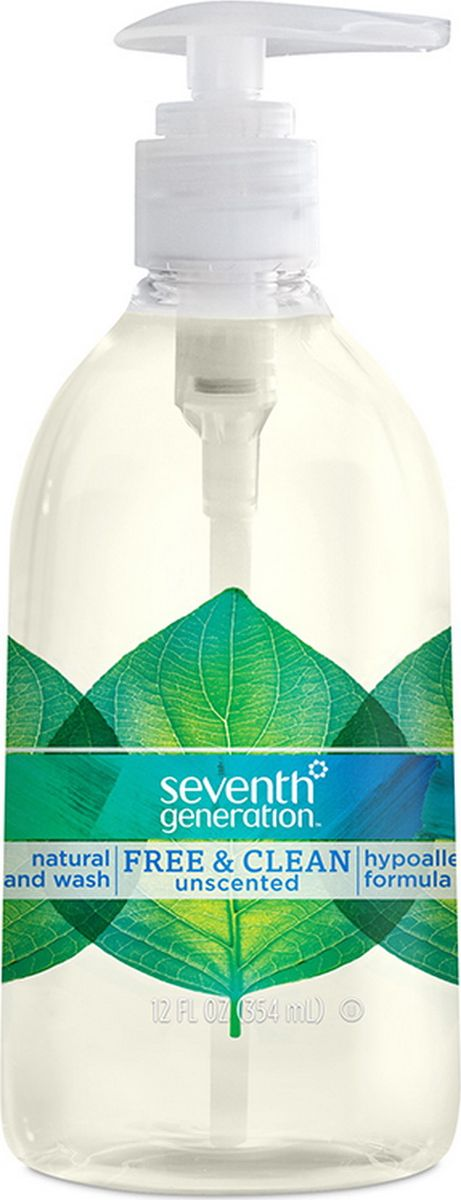 Натуральное жидкое мыло Seventh Generation, для рук, без запаха, 354 мл22930Натуральное жидкое мыло Seventh Generation для рук БЕЗ ЗАПАХА 354 мл (12 oz)