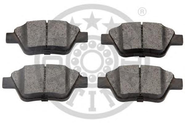 Колодки тормозные дисковые задние Optimal 1244912449