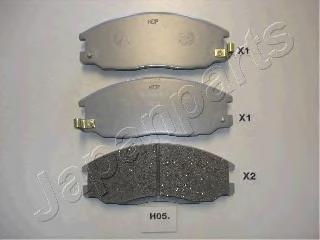 Колодки тормозные дисковые Japanparts PAH05AFPAH05AF