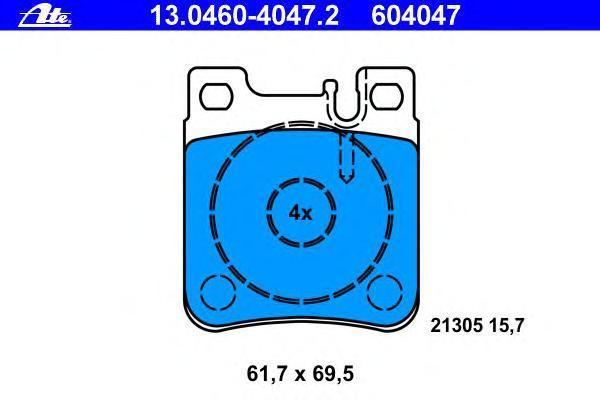 Колодки тормозные дисковые Ate 1304604047213046040472