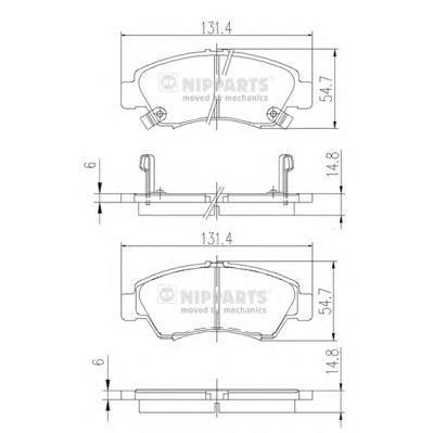 Колодки тормозные передние Nipparts J3604034J3604034