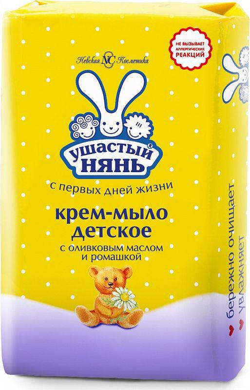 Ушастый нянь Крем-мыло детское с оливковым маслом и ромашкой 90 г
