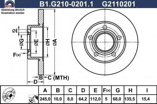 Диск тормозной Galfer B1G21002011B1G21002011