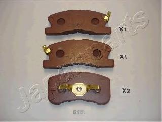 Колодки тормозные дисковые Japanparts PA615AFPA615AF