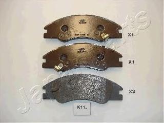 Колодки тормозные дисковые Japanparts PAK11AFPAK11AF