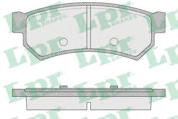 Колодки тормозные задние LPR / AP 05P156405P1564