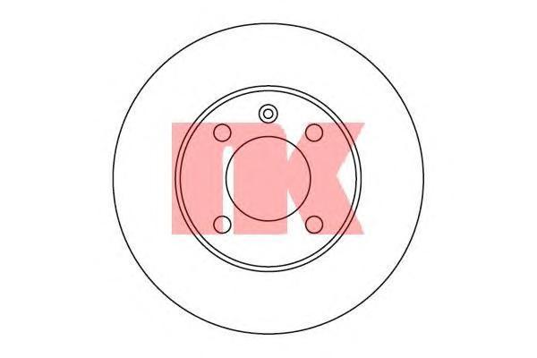 Диск тормозной NK 209933 комплект 2 шт209933