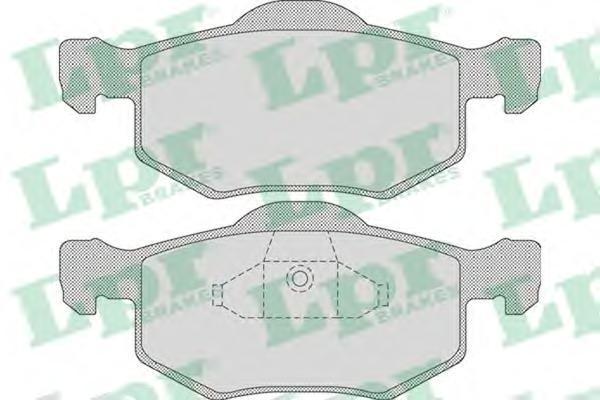 Колодки тормозные LPR / AP 05P109105P1091