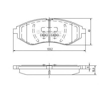 Колодки тормозные передние Nipparts J3600911J3600911
