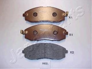 Колодки тормозные дисковые Japanparts PAH02AFPAH02AF