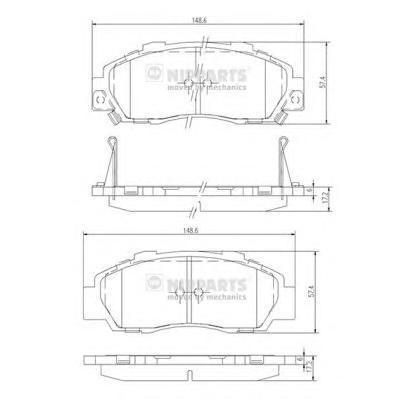 Колодки тормозные передние Nipparts J3604032J3604032