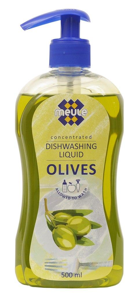 Жидкость для мытья посуды Meule Олива, концентрат, 500 мл7290104930287Meule Олива - концентрированное средство для мытья посуды. Густая жидкость отлично пенится и идеально подходит для мытья вручную посуды, в том числе детской, из фарфора, пластика, стекла, металла, а также овощей и фруктов. Имеет нейтральный рН. Содержит экстракт Алое Вера и минералы Мертвого моря. Содержит компоненты, которые оказывают щадящее воздействие на руки, не сушат кожу, не повреждают ногти, не раздражают дыхательные пути.Товар сертифицирован.