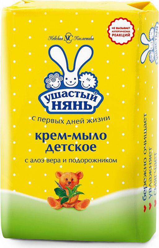 Ушастый нянь Крем-мыло детское с алоэ вера и подорожником 90 г свобода мыло детское с чистотелом 100 г