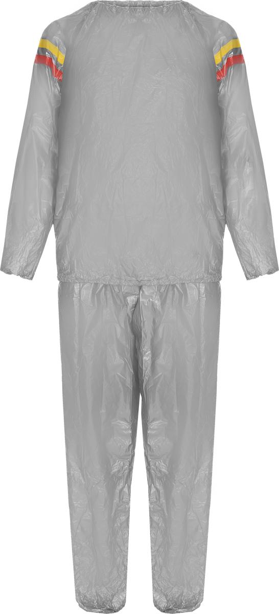 Костюм сауна Sport UP, цвет: серый, желтый. Размер XLIR97901/XLКостюм-сауна Sport UP предназначен для интенсивного сброса веса во время тренировок. Изделие выполнено из высококачественного ПВХ. Костюм состоит из штанов и куртки с длинным рукавом. Пояс и манжеты куртки и штанов на резинках, что обеспечивает более плотное прилегание к телу.Во время физических тренировок костюм создает эффект сауны, что в свою очередь эффективно воздействует на процесс сжигания жира. Поэтому в таком костюме лишний вес будет пропадать намного быстрее, чем в обычной спортивной одежде.