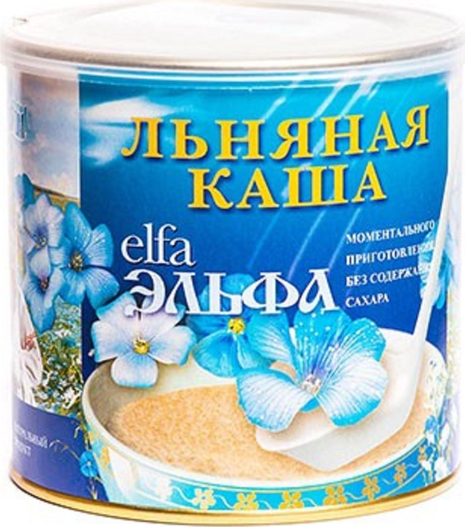 Эльфа Каша льняная натуральная, 400 г48Диетическая льняная каша - может использоваться в почти любом рецепте и даже как заменитель яиц или масла. Это высокопитательная добавка к любой диете. Не содержит соли и сахара, может заливаться горячим молоком или горячей водой и доводится потребителем