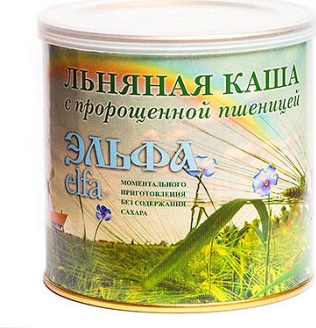 Эльфа Каша льняная с пророщенной пшеницей, натуральная 400 г