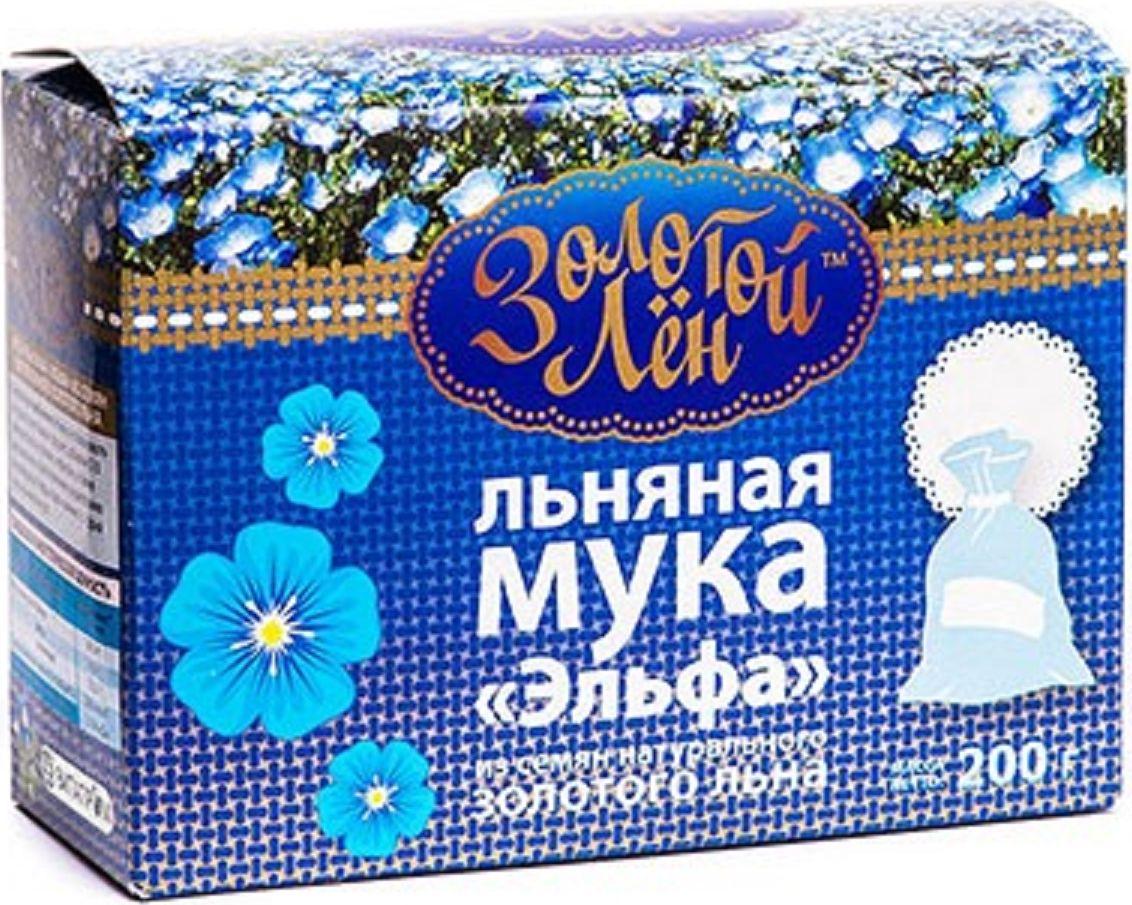 Эльфа Золотой лен мука льняная, 200 г00-00000052Мука из золотого канадского льна «Эльфа» - это высококачественный и полезный продукт для здорового питания, содержащий растительный белок, пищевые волокна и натуральные полиненасыщенные жирные кислоты Омега-3, Омега-6 и Омега-9 в идеальном соотношении