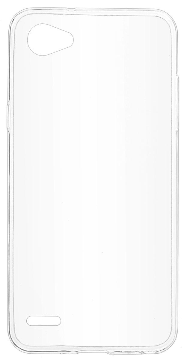 все цены на Skinbox Slim Silicone чехол-накладка для LG Q6, Transparent онлайн
