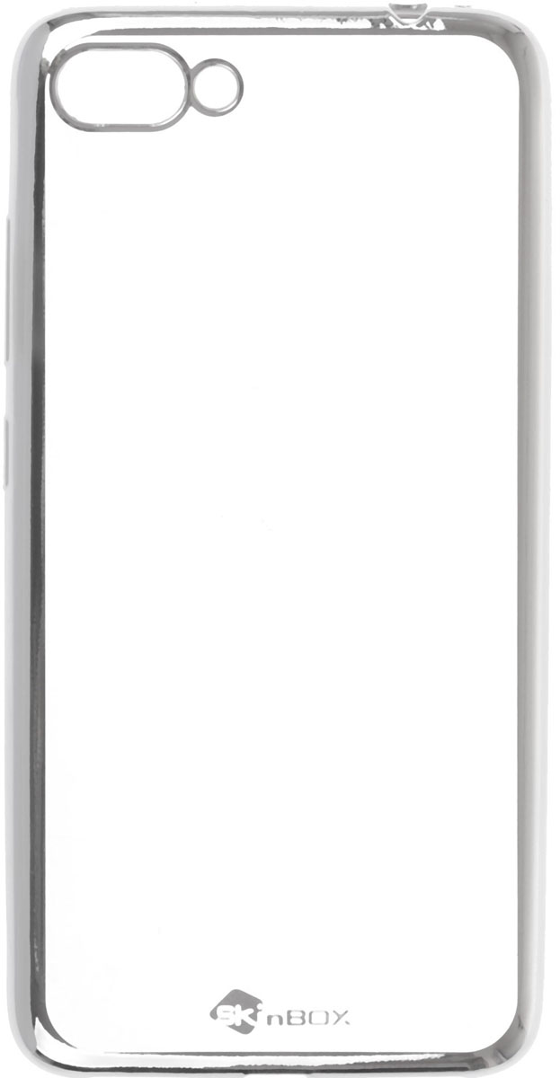 Skinbox Silicone chrome border 4People чехол-накладка для Asus Zenfone 4 Max (ZC554KL), Silver аксессуар чехол книга asus zenfone 4 max zc554kl innovation book silicone gold 11550