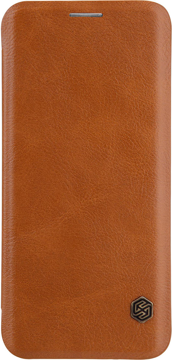 Nillkin Qin leather case чехол для Samsung Galaxy S8 Plus, Braun чехол для samsung g900f g900fd galaxy s5 nillkin sparkle leather case белый