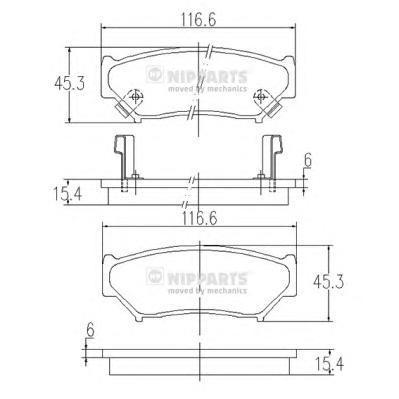 Колодки тормозные передние Nipparts J3608009J3608009