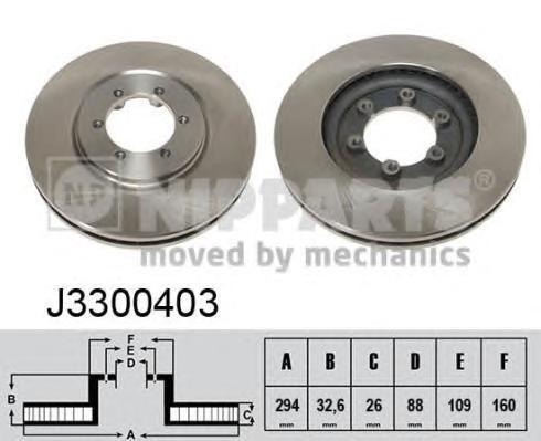 Диск тормозной передний Nipparts J3300403 комплект 2 штJ3300403