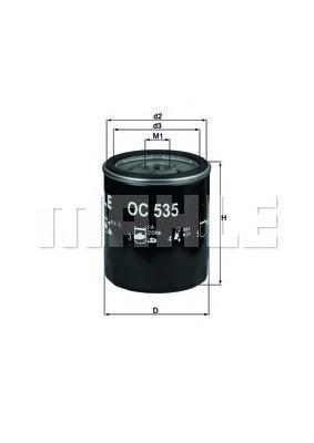 Фильтр масляный Mahle/Knecht OC535OC535