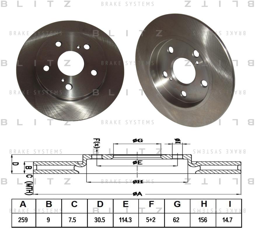 Диск тормозной BLITZ автотовары BS0270BS0270
