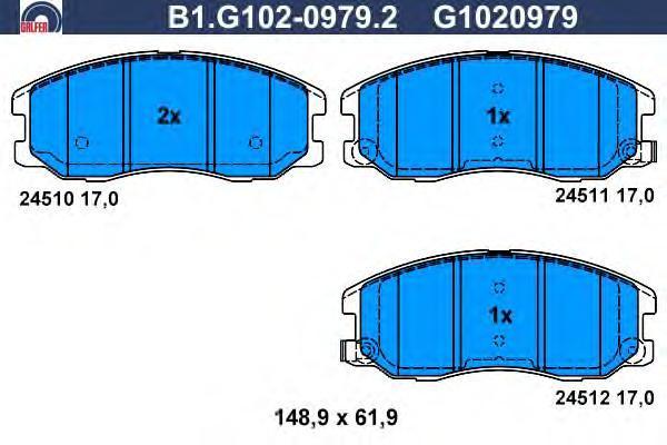 Колодки тормозные дисковые Galfer B1G10209792B1G10209792