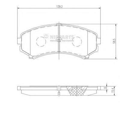 Колодки тормозные передние Nipparts J3605039J3605039