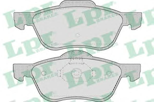 Колодки тормозные дисковые передние LPR / AP 05P70705P707