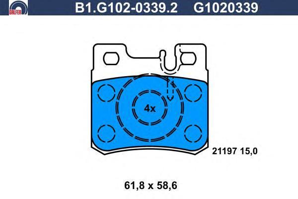 Колодки тормозные дисковые Galfer B1G10203392B1G10203392