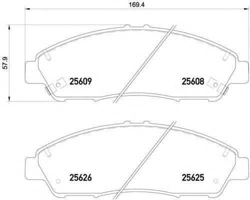 Колодки тормозные передние Textar 25608012560801
