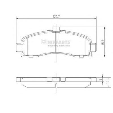 Колодки тормозные передние Nipparts J3601053J3601053