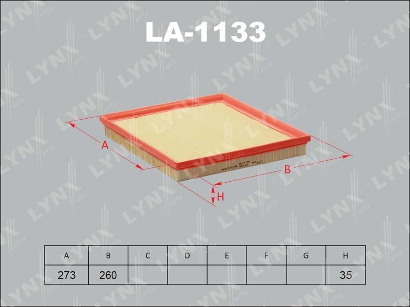 Фильтр воздушный Lynx LA1133LA1133
