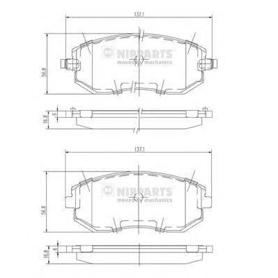 Колодки тормозные дисковые Nipparts J3607015J3607015