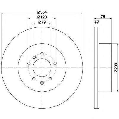 Диск тормозной передний вентилируемый Textar 92175503 комплект 2 шт92175503