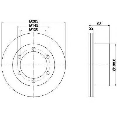 Диск тормозной Pro BEHR-HELLA 8DD3551058118DD355105811