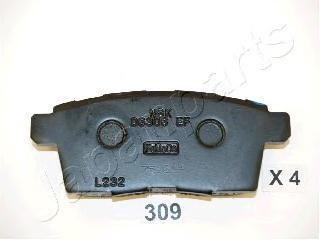 Колодки тормозные дисковые Japanparts PP309AFPP309AF