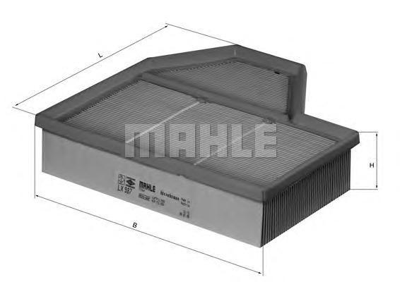 Фильтр воздушный Mahle/Knecht LX987LX987