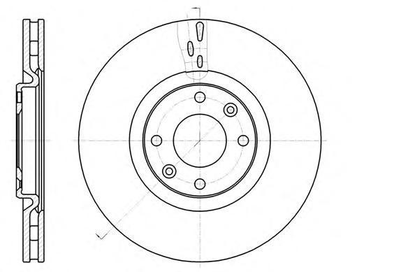 Диск тормозной передний вентилируемый Remsa 61059106105910