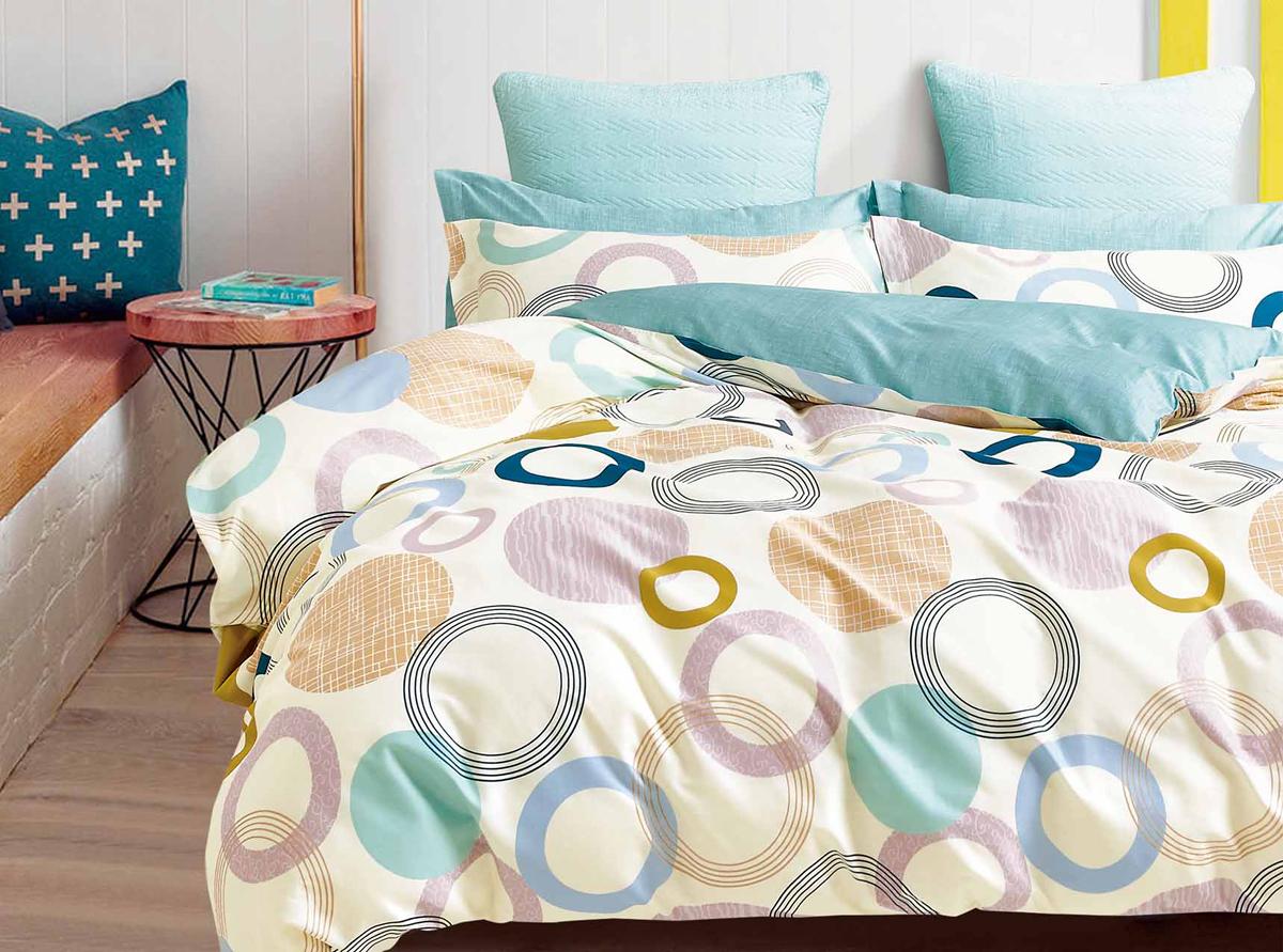 Комплект белья Soft Line, 1,5-спальный, наволочки 50x70. 1050010500Постельное бельё SL из сатина с декоративной отделкой