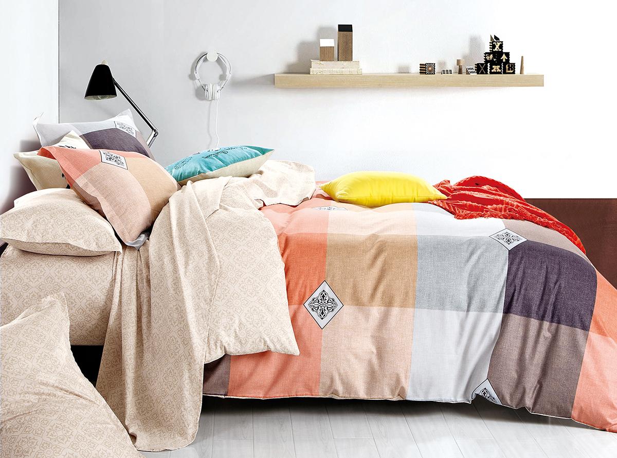Комплект белья Soft Line, 1,5-спальный, наволочки 50x70. 1050410504Постельное бельё SL из сатина с декоративной отделкой