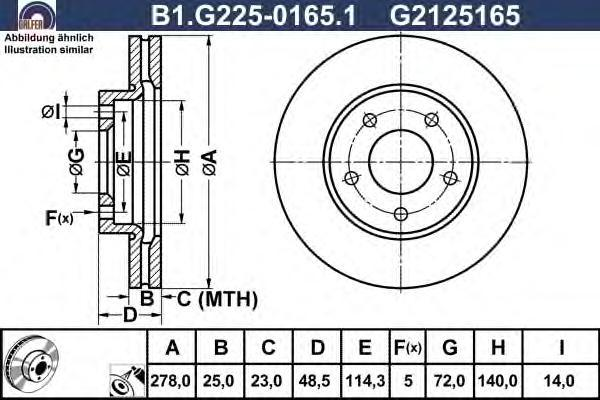 Диск тормозной Galfer B1G22501651 комплект 2 штB1G22501651