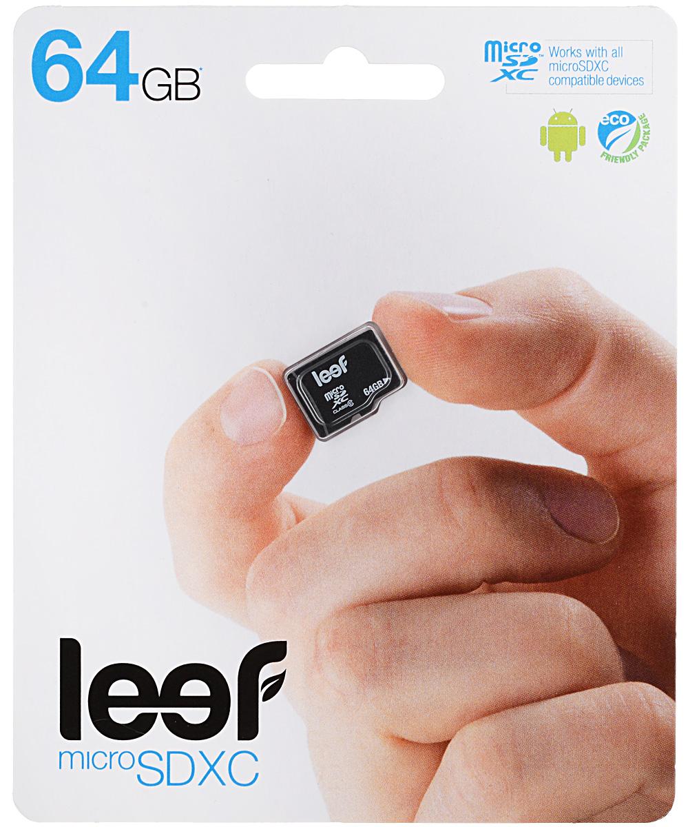 Leef microSDXC Class 10 64GB карта памятиLFMSD-06410RКомпактная и универсальная карта памяти Leef microSDXC Class 10 позволяет надежно хранить фотографии, музыку, фильмы и любую другую информацию. Она выпускается в вариантах с различной емкостью и идеально подходит для планшетных ПК и смартфонов. Более того, карты памяти Leef имеют водонепроницаемое исполнение, поэтому вы не потеряете ваши важные данные, даже если водонепроницаемый кейс смартфона окажется негерметичным. Вся продукция Leef водонепроницаемая, ударопрочная, имеет пылезащищенный корпус и устойчива к работе в экстремальных температурных условиях.